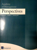 Academy of Management Perspectives Vol 31 No.1