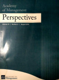 Academy of Management Perspectives Vol 32 No.3