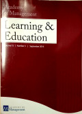 Academy of Management Learning and Education Vol 15 No.3