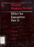 Ethics for executives : part II