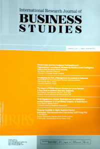 Image of International Research Journal of Business Studies Vol 8 No.2