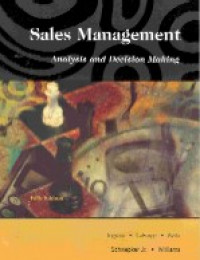 Image of Sales management : analysis and decision making
